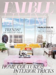 FAIBLE LIVING N°8 FALL-WINTER 15/16