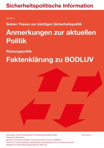 Anmerkungen zur aktuellen Politik Faktenklärung zu BODLUV