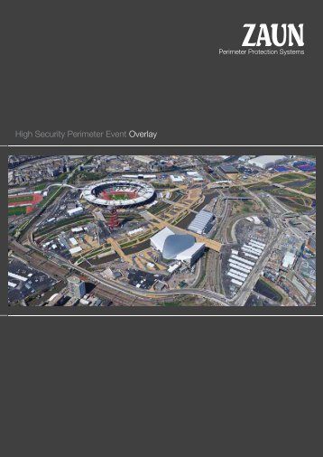 High Security Perimeter Event Overlay Brochure