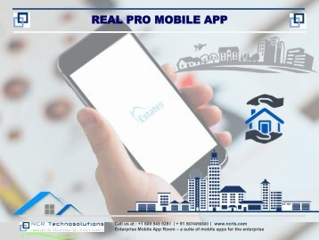 Mobile app for your Real estate business, Realtor, real estate marketing – www.ncrts.com