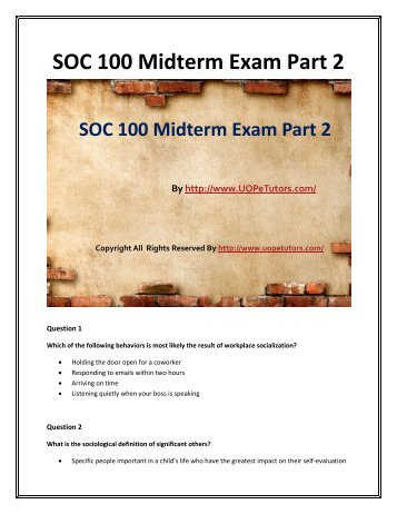 midterm exam part 1 solutions Cs 194-3/16x fall 2007 midterm exam october 4, 2007 solutions page 2/12 1 (15 points total) short answer questions: a (6 points) what is a dbms integrity constraint.
