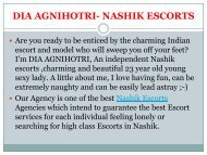 Top Nashik escorts agency