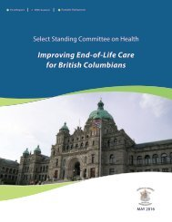 Improving End-of-Life Care for British Columbians