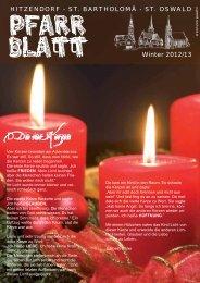 Pfarrblatt Winter 2012 - Pfarrverband Hitzendorf - Diözese Graz ...