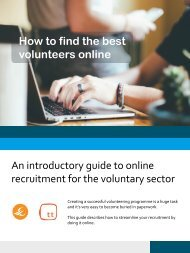 recruitment for the voluntary sector