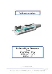Bedienungsanleitung - Taciak AG, elektronische Spezialfabrikation