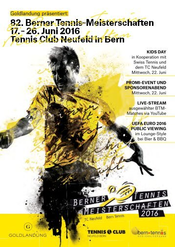 Turniermagazin Berner Tennismeisterschaften 2016