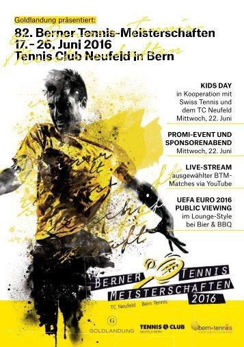 Ausschreibung Berner Tennismeisterschaften 2016