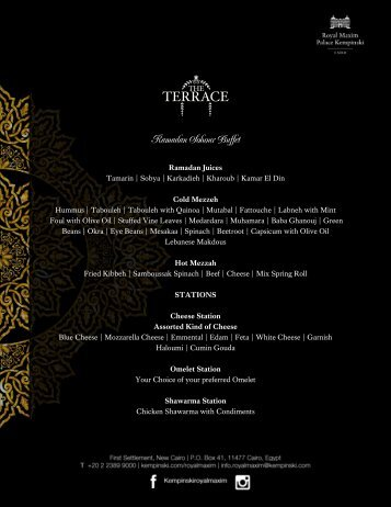 The Terrace Buffet Sohour