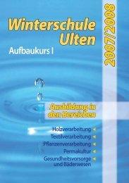 Winterschule Ulten - Kursprogramm 2007/2008