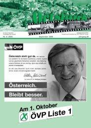Nr. 3 / 2006 September 2006 Jahrgang 26 - ÖVP Groß St. Florian ...