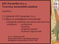 KIO Keramika d.o.o. Tvornice keramičkih pločica - Unido