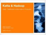 Katta & Hadoop