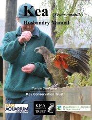 (Nestor notabilis) Husbandry Manual - Kea Conservation Trust