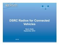 DSRC Radios for Connected Vehicles