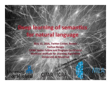 Deep learning of seman/cs for natural language