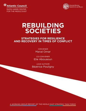 REBUILDING SOCIETIES