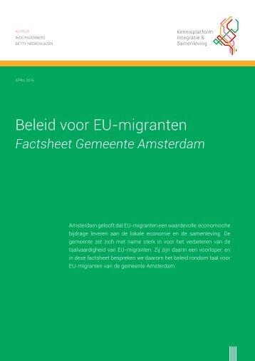 Beleid voor EU-migranten