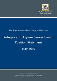 Refugee and Asylum Seeker Health Position Statement