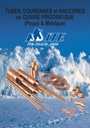 TUBES, COURONNES et RACCORDS en CUIVRE ... - ITE-Tools.com