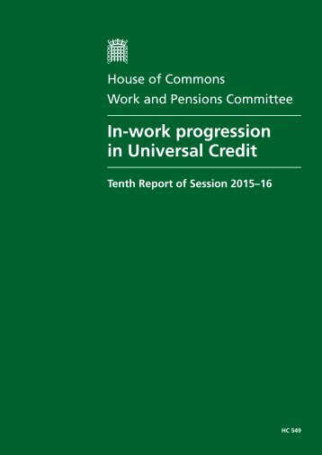 In-work progression in Universal Credit