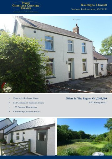 Waunlippa Llanmill Offers In The Region Of £385,000