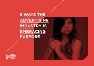 5 WAYS THE ADVERTISING INDUSTRY IS EMBRACING PURPOSE