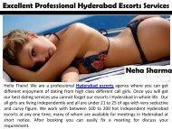 Excellent Professional Hyderabad Escorts Services