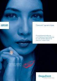 Cercon ceram kiss Broschüre - DeguDent GmbH