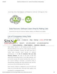 Purchase Tele Verified Data Recovery Software User Lists from Span Global Services