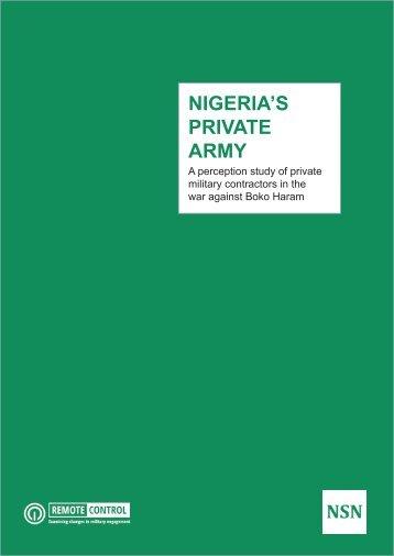 NIGERIA'S PRIVATE ARMY