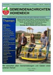 Kinder - Marktgemeinde Hoheneich