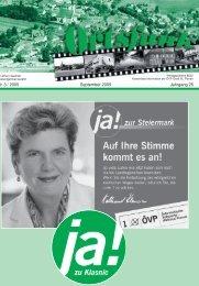 Ortsfunk Umbruch Sept 2005 - ÖVP Groß St. Florian ÖVP Ortspartei ...