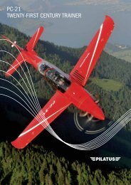 PC-21 TWENTY-FIRST CENTURY TRAINER - Pilatus Aircraft