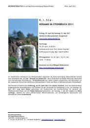Keramik im Steinbruch 2011 - die jungs kommunikation
