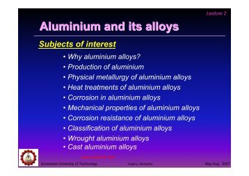 Aluminium and aluminium alloy