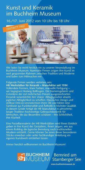 PDF-Flyer Kunst & Keramik - Buchheim Museum der Phantasie