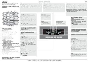KitchenAid 20RB-D3L - Side-by-Side - 20RB-D3L - Side-by-Side ES (858644515020) Scheda programmi