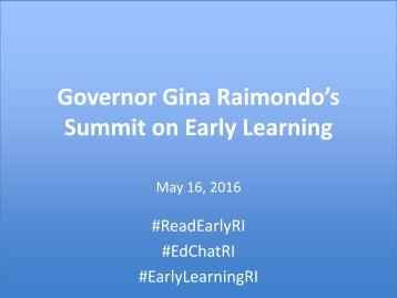Summit on Early Learning