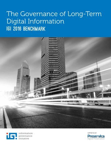 The Governance of Long-Term Digital Information