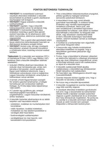 KitchenAid S 12 A1 D/HA - Refrigerator - S 12 A1 D/HA - Refrigerator HU (850371401500) Istruzioni per l'Uso