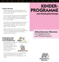 KINDER- PROGRAMME und Kindergeburtstage - Allwetterzoo ...