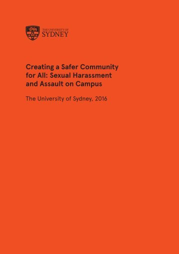 Creating a Safer Community for All Sexual Harassment and Assault on Campus