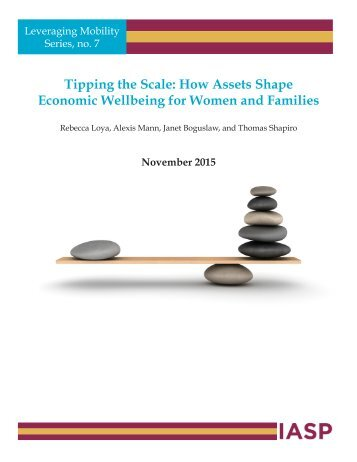 Tipping the Scale How Assets Shape Economic Wellbeing for Women and Families