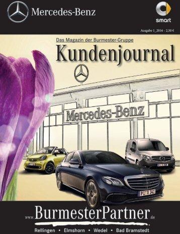 Burmester Kundenmagazin 2016 Ausgabe 1