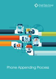 Phone Appending Services of Email Data Group