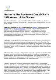 Nexsan's Elsa Tay Named One of CRN's 2016 Women of the Channel