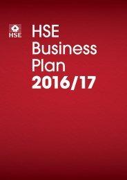 HSE Business Plan 2016/17