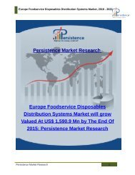 Europe Foodservice Disposables Distribution Systems Market, 2016 - 2022