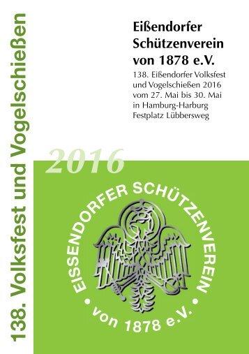 Festbuch 138. Volksfest und Vogelschießen Eißendorf 2016
